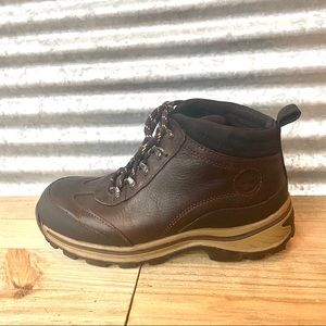 Timberland Boys Brown Leather Boots, Size 4, EUC